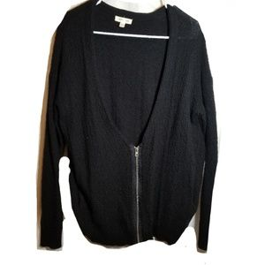 Urban Outfitters Black Zip Cardigan Sweater small